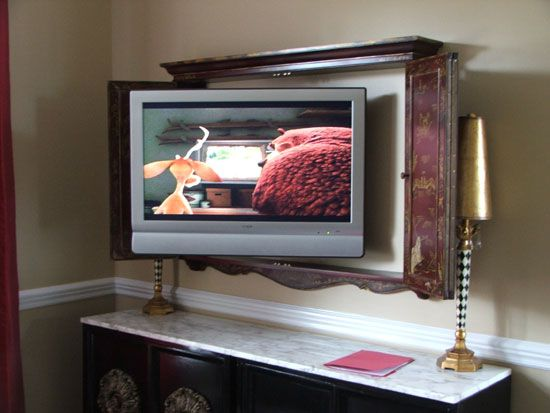 wall mounted tv cabinet mount the tv in the quot great room quot inside a cabinet or 29881