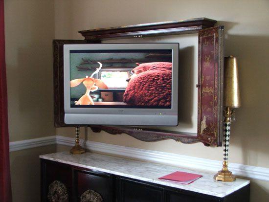 Tv Inside Cabinet