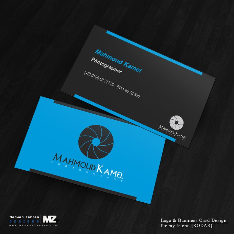 Photographer Business Card and logo Design by MarwanZahran | Name ...