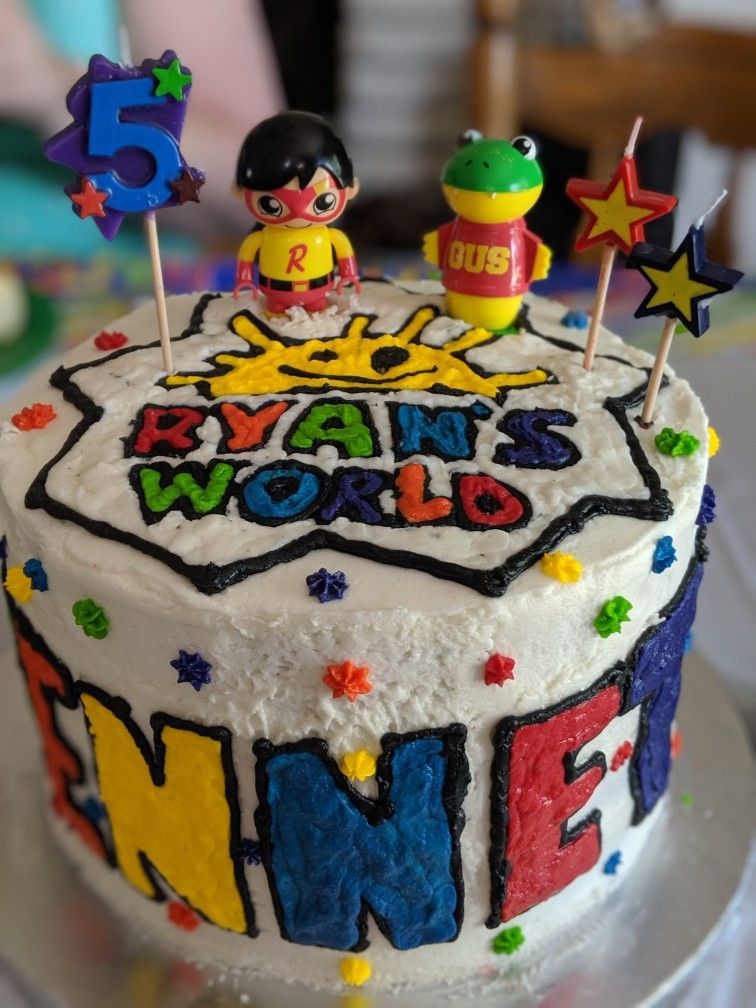 Magnificent Ryans World Cake With Images 4Th Birthday Cakes For Boys Boy Funny Birthday Cards Online Barepcheapnameinfo
