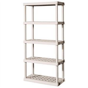 Sterilite 5 Shelf Shelving Unit Plastic Shelving Units Plastic Shelves Sterilite