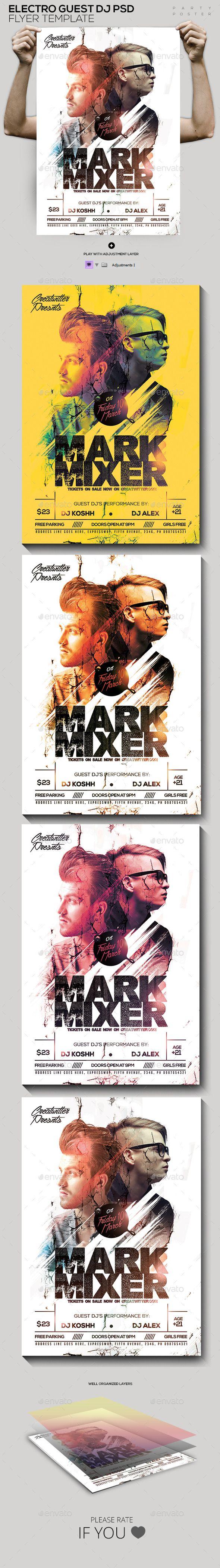 Guest DJ\'s PSD Poster/Flyer Template — Photoshop PSD #music ...