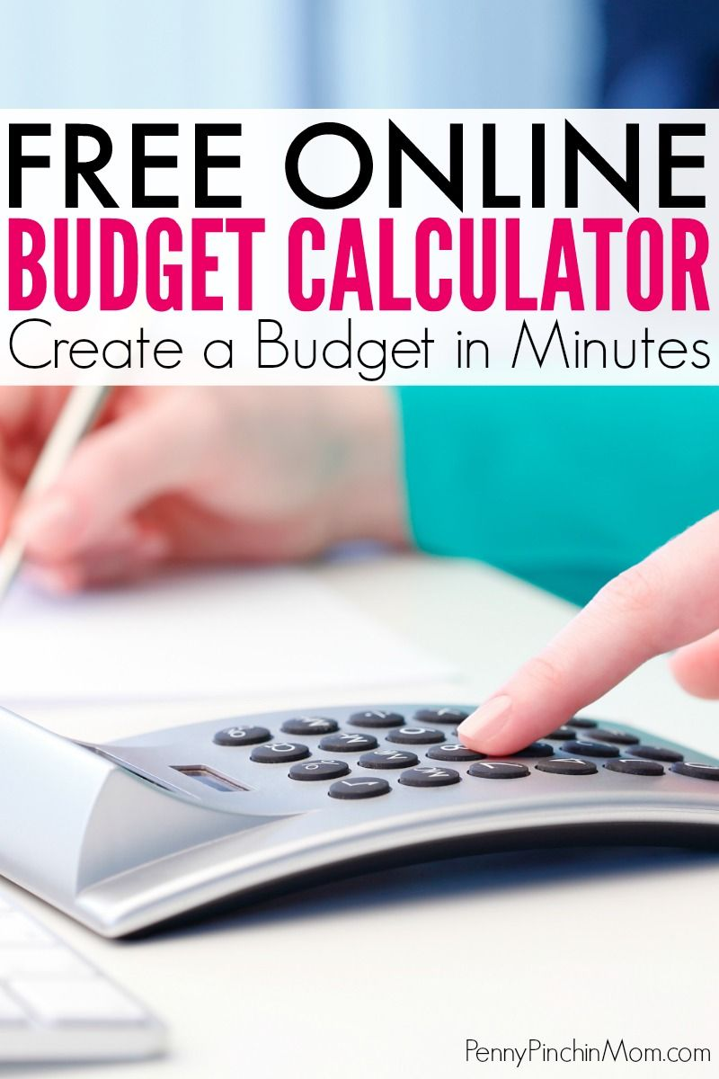 online budget calculator living frugally money saving ideas