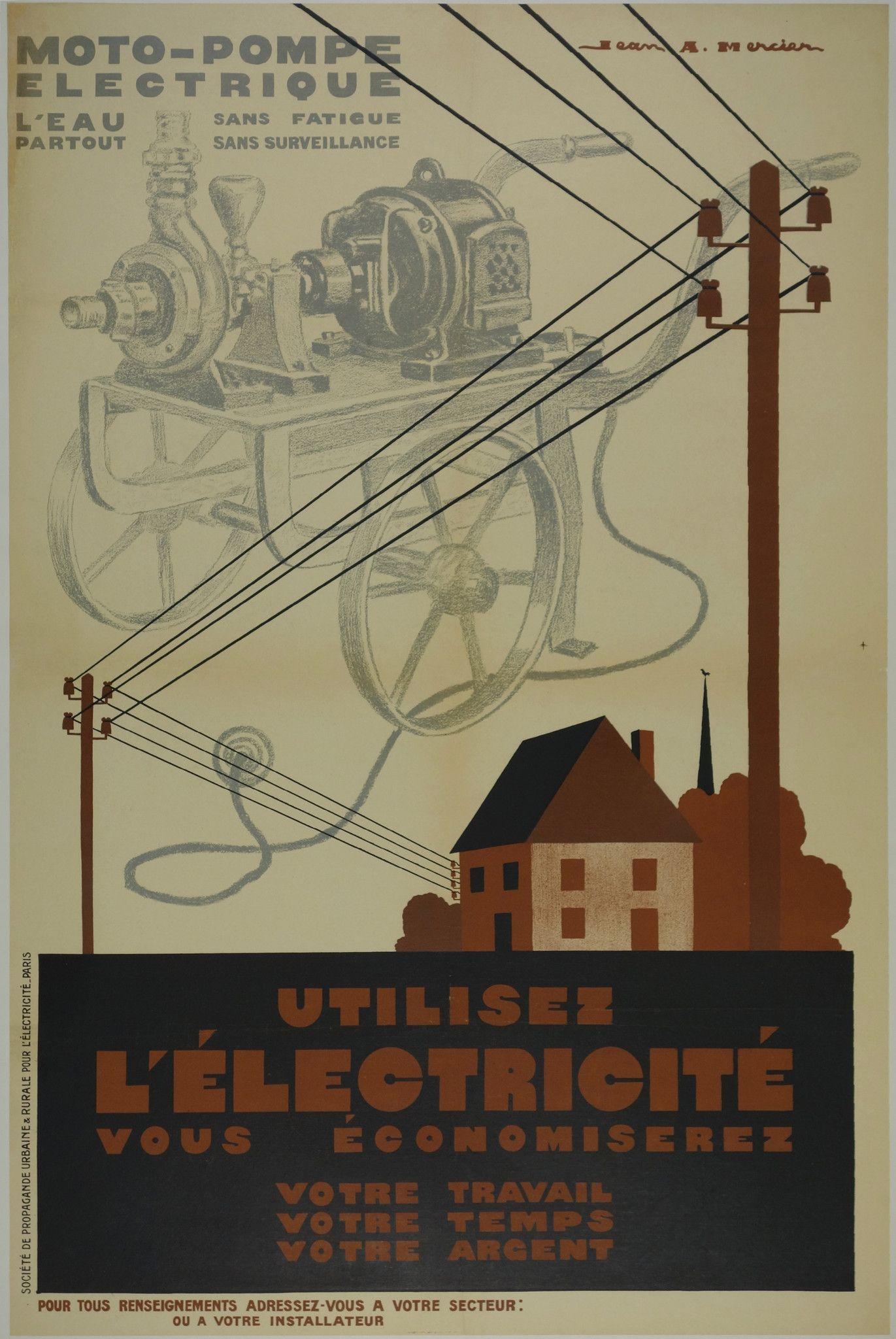 Utilisez L Electricite Retro Advertising Retro Sign Vintage Advertisements