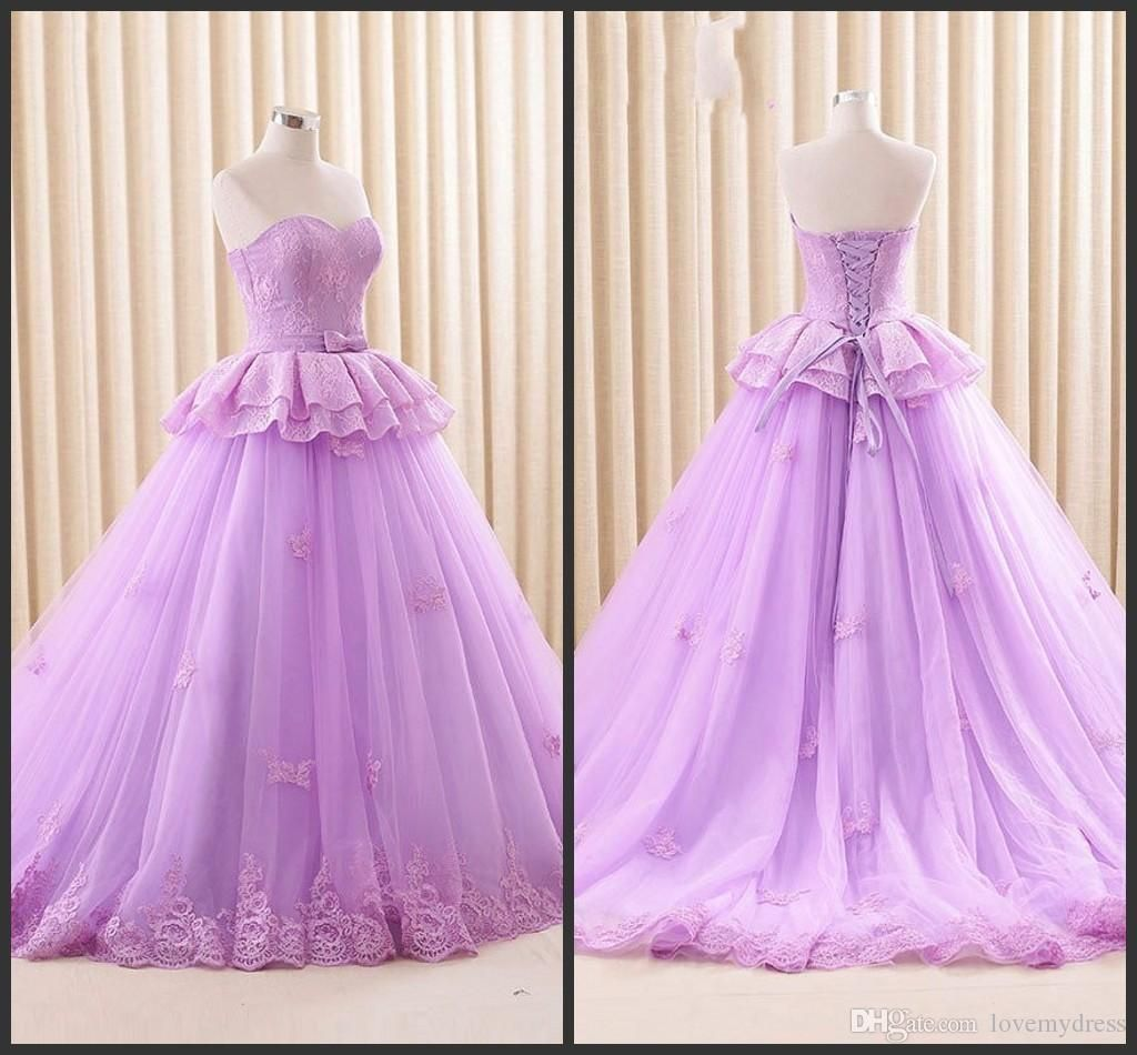 2019 year for lady- Purple Light princess wedding dresses pictures