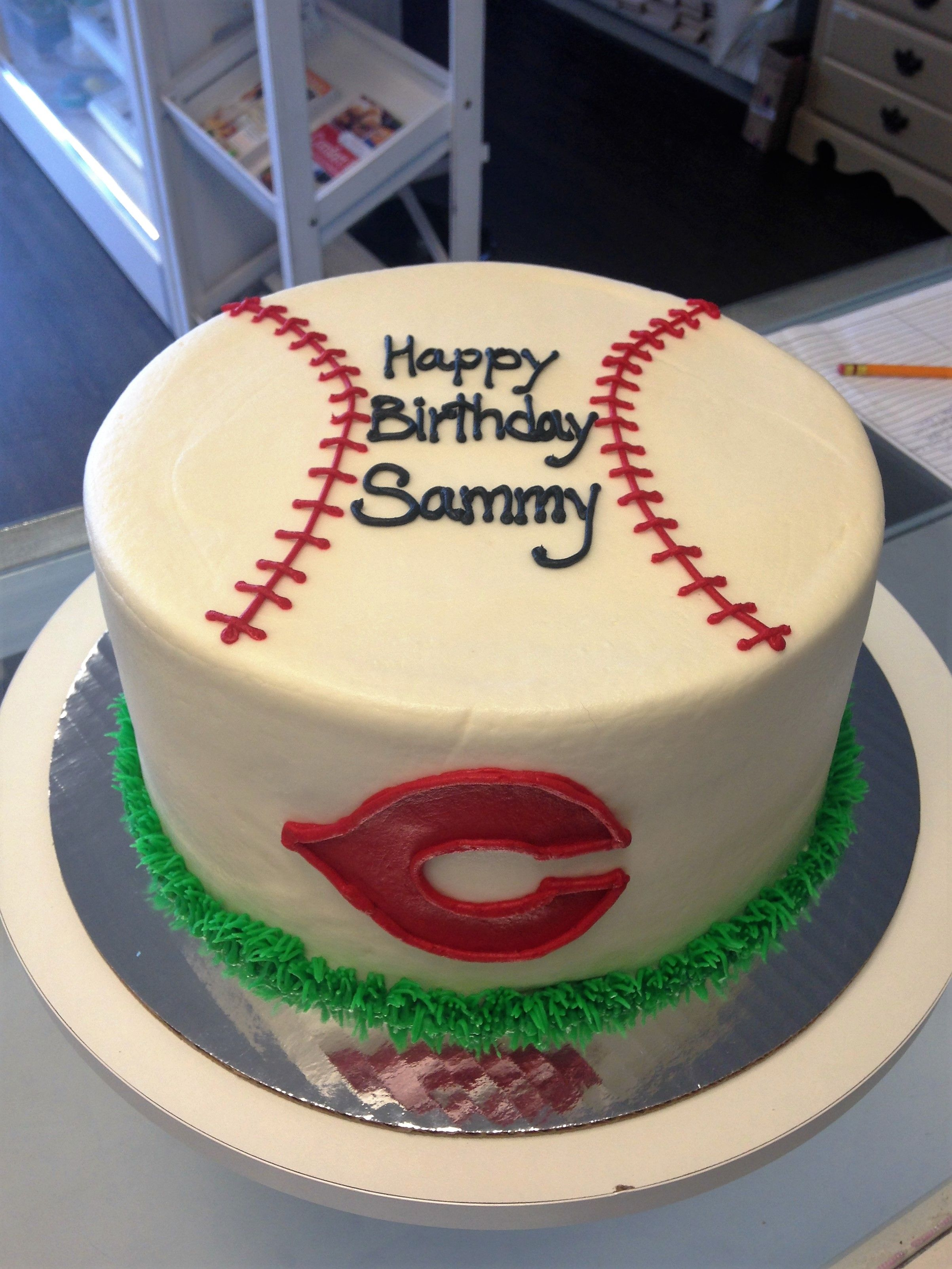 Cincinnati Reds Boys Birthday Cake Custom Cakes Pinterest