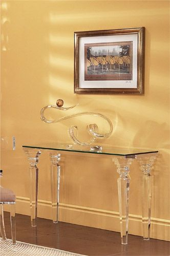 We Have Beautiful Fantasia Sofa Table LV. Our Acrylic Furniture Are Very  Awesome And Classic. Sharooz Art Provides Console Tables With Adds  Compliment To ...