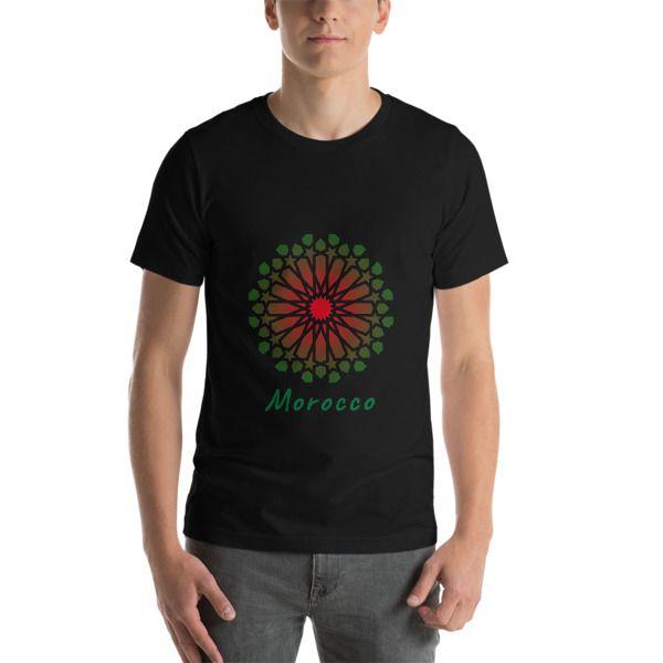 Art Morocco Short-Sleeve Unisex Black T-Shirt - SartiShop ... f6e90dc4e