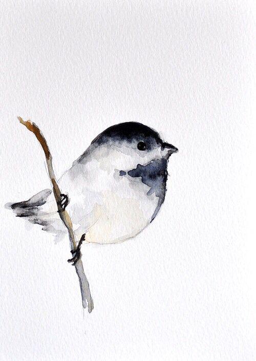 Watercolor Art Bird On A Branch Bird Watercolor Paintings Watercolor Bird Birds Painting