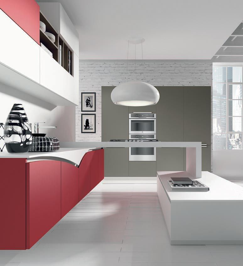 cucina fly arredamento rosso colore in cucina