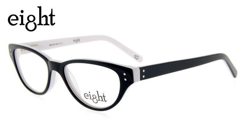 d05ee6356ee Eight AK86D Black w White NA by GlassesUSA.com