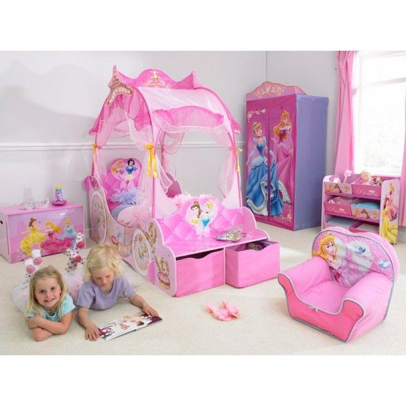 Le petit lit carrosse avec sa chambre 100 princesse disney - Lit carrosse princesse disney ...