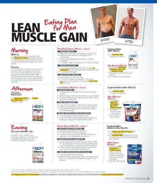 lose fat build muscle diet plan male
