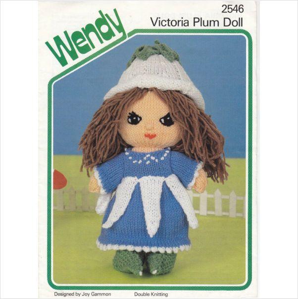 2546 Wendy Knitting Pattern Victoria Plum Doll 10 High Dk On Ebid