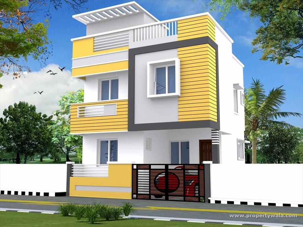Front Boundary Wall Elevation : Design of house front wall