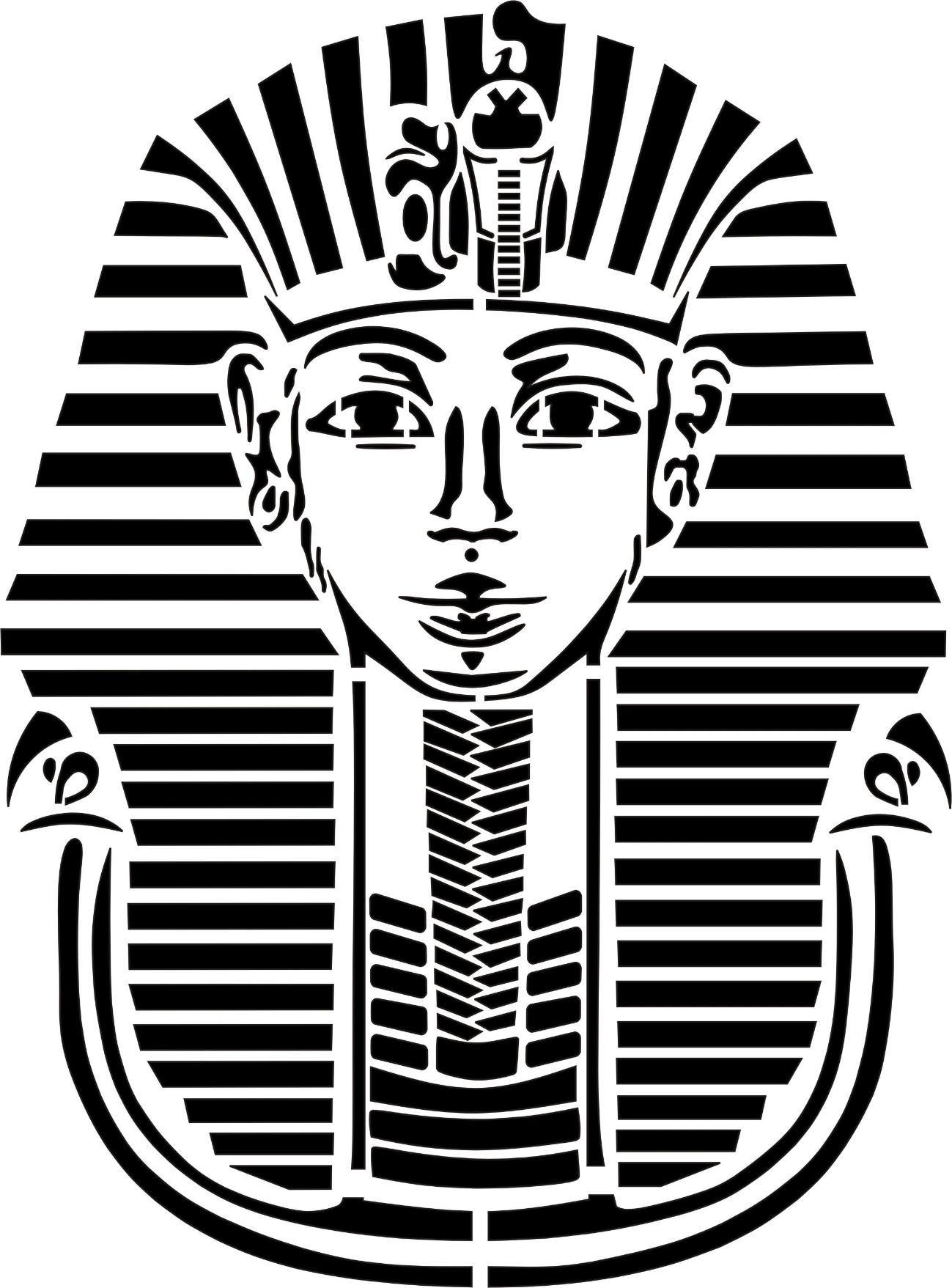 Stencil Schablone Tutanchamun | wycinanki 1 | Pinterest | Stenciling ...