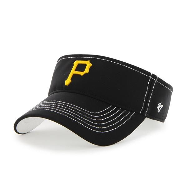 cheap for discount f7450 f9c3e Pittsburgh Pirates Defiance Visor Black 47 Brand Adjustable Hat