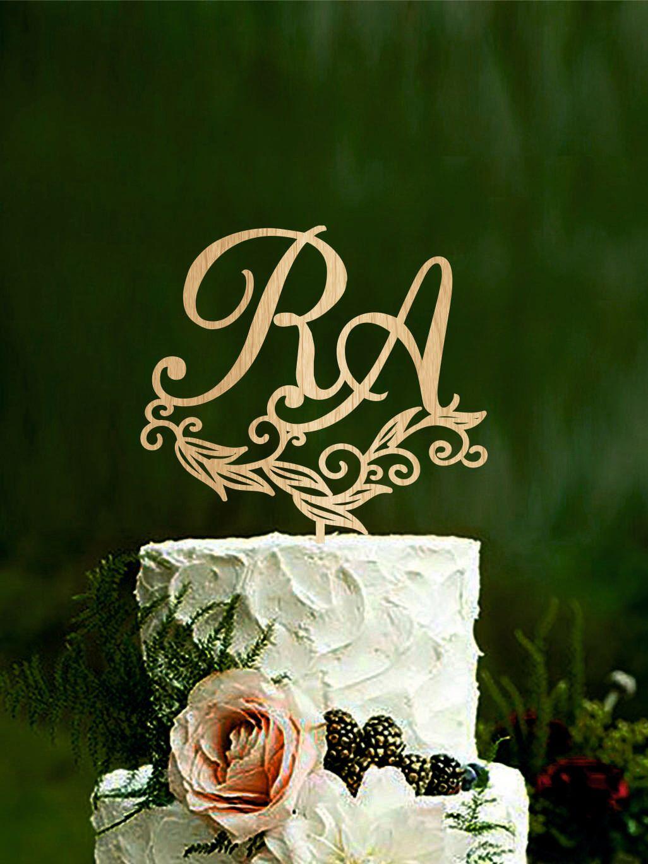 буквы в свадебном торте ю м фото это