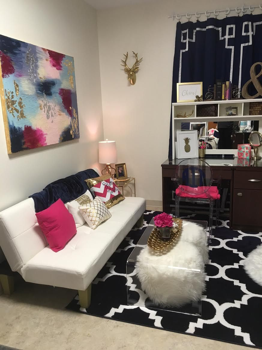 Dorm rooms have never been considered fancy however - Dorm living room decorating ideas ...