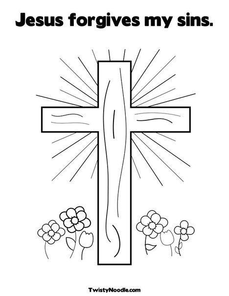 Christian Coloring Pages That You Can Customize Ilike Cross