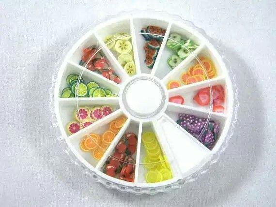 Rueda de frutas para uñas