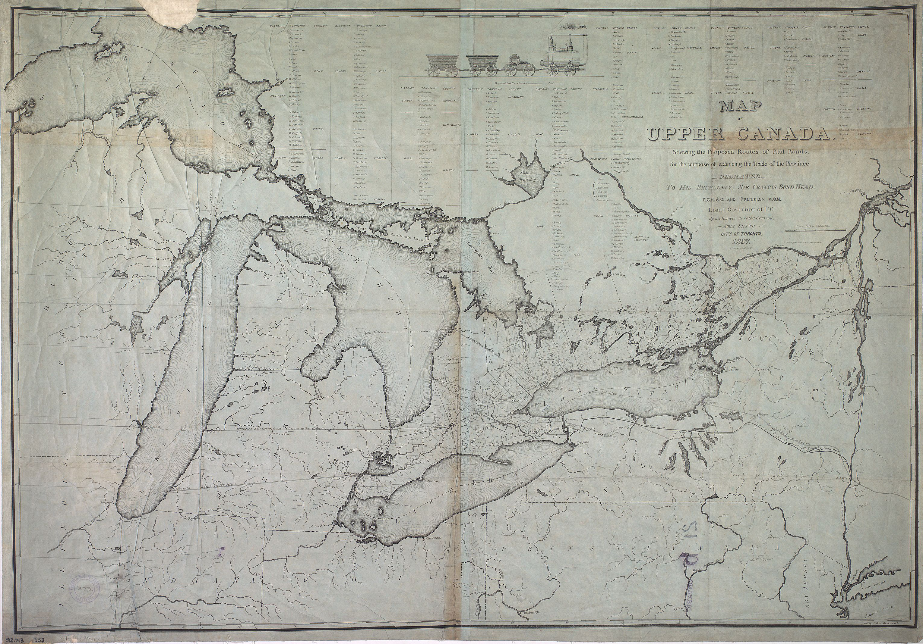 Map of Upper Canada shewing the proposed