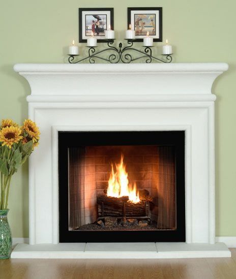 Fireplace mantle ~ like the candle setting! - Modern Design