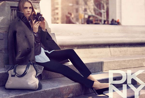 FALL 2013 CAMPAIGNS | DKNY - Model: Cara Delevingne; Photographer: Mikael Jansson