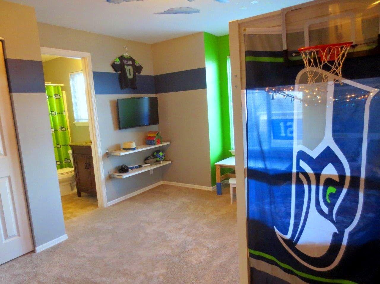 Seahawks Themed Bedroom Bedroom Themes Boys Room Design