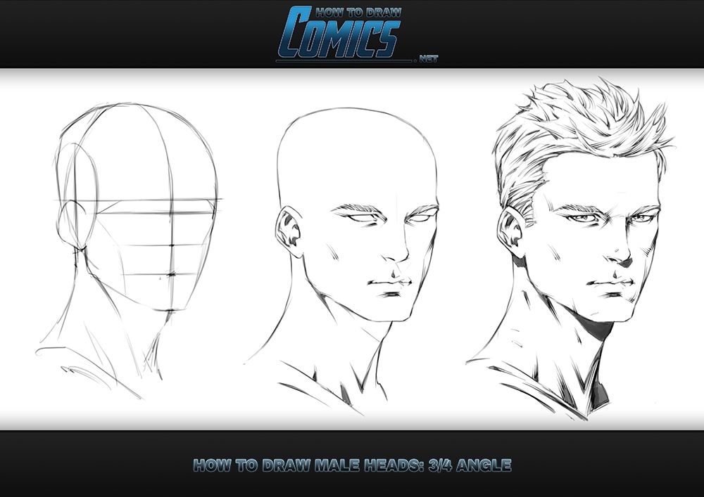 Being a pro at portraits and profiles is one thing, but what about when it comes to drawing those superhero heads from an angled view?  http://www.howtodrawcomics.net/#!how-to-draw-heads-34view-intro/c11vx  In the latest tutorial from http://www.howtodrawcomics.net/ you'll get a whole new perspective on drawing the human male head. And unlike the Front and Side views, you'll use all three axis to present your superheroes with true, three dimensional depth.  Enjoy. -Clayton