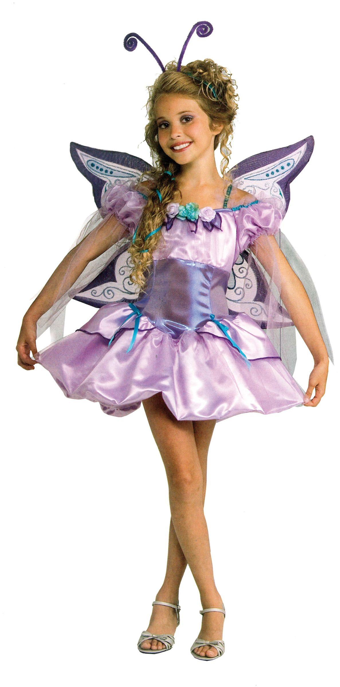 Disfraz violeta de hada mariposa para niña : Vegaoo ...