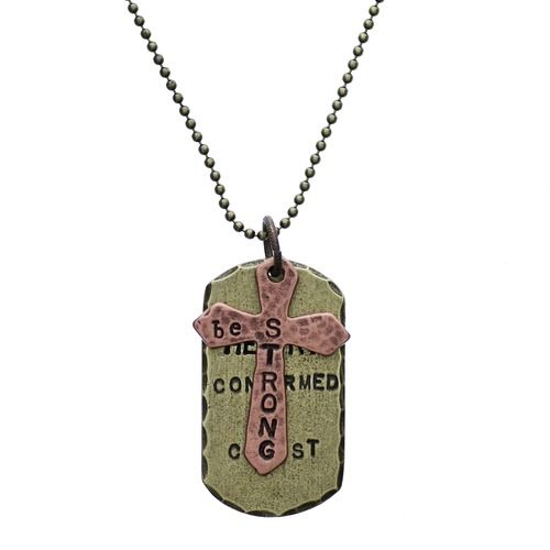 Personalized Confirmation Dog Tag Necklace