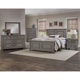 Best Addison White Bedroom Set Choose Size In 2020 Grey 400 x 300