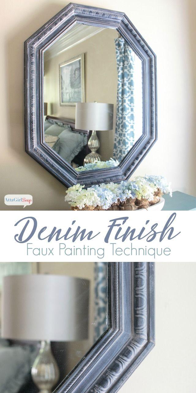 Denim Finish Faux Painting Technique