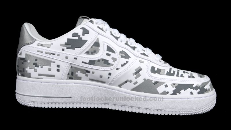 nike air force one digi camo white