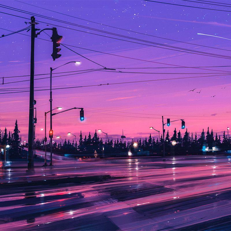 ArtStation 7 p.m., Alena Aenami Anime scenery