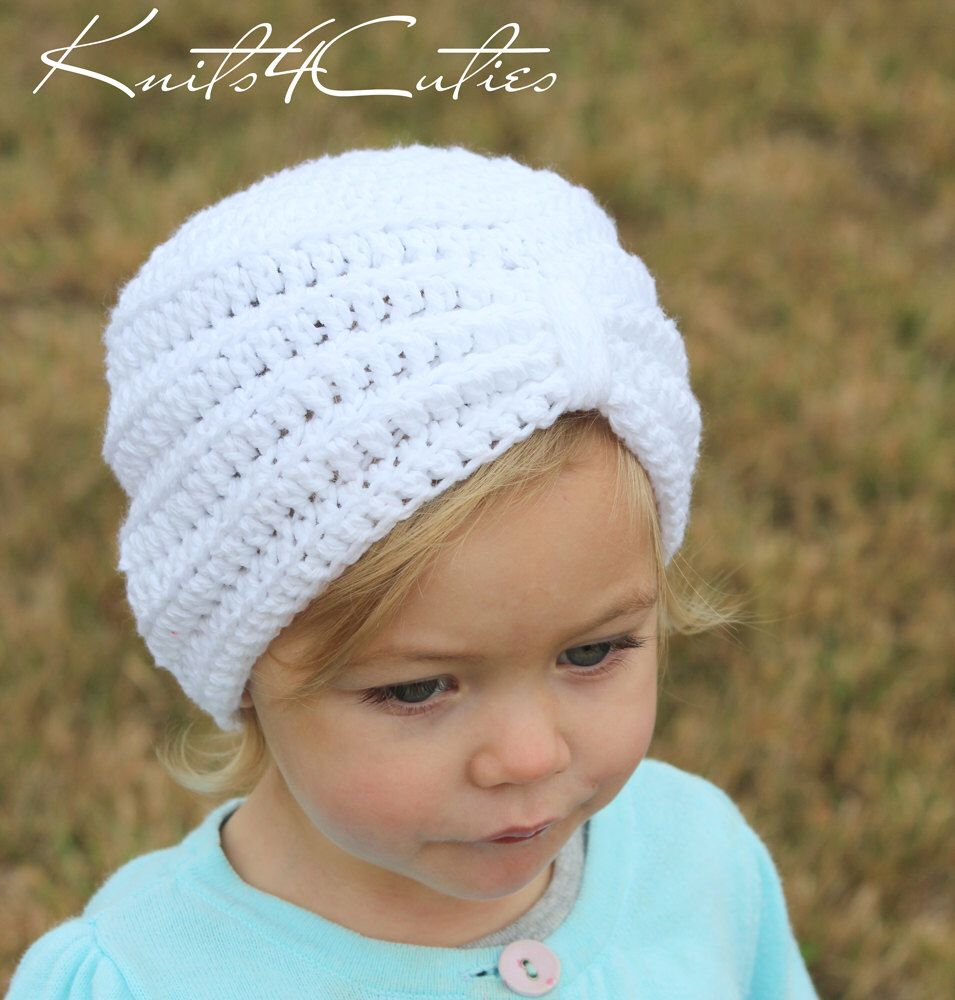 Crochet baby turban hat, any color, any size | Pinterest | Baby ...