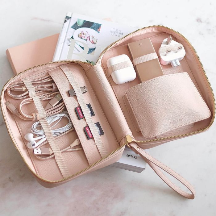 Blush Cable Tidy Bag