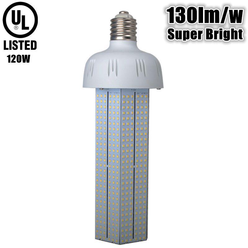 130lm W Super Bright Led Bulb E40 E39 120w Ac110v 220v 230v 240v E40 E39 120w Led Corn Bulb Replace 450w High Pressure Sodium Lights Led Bulb Incandescent Lamp