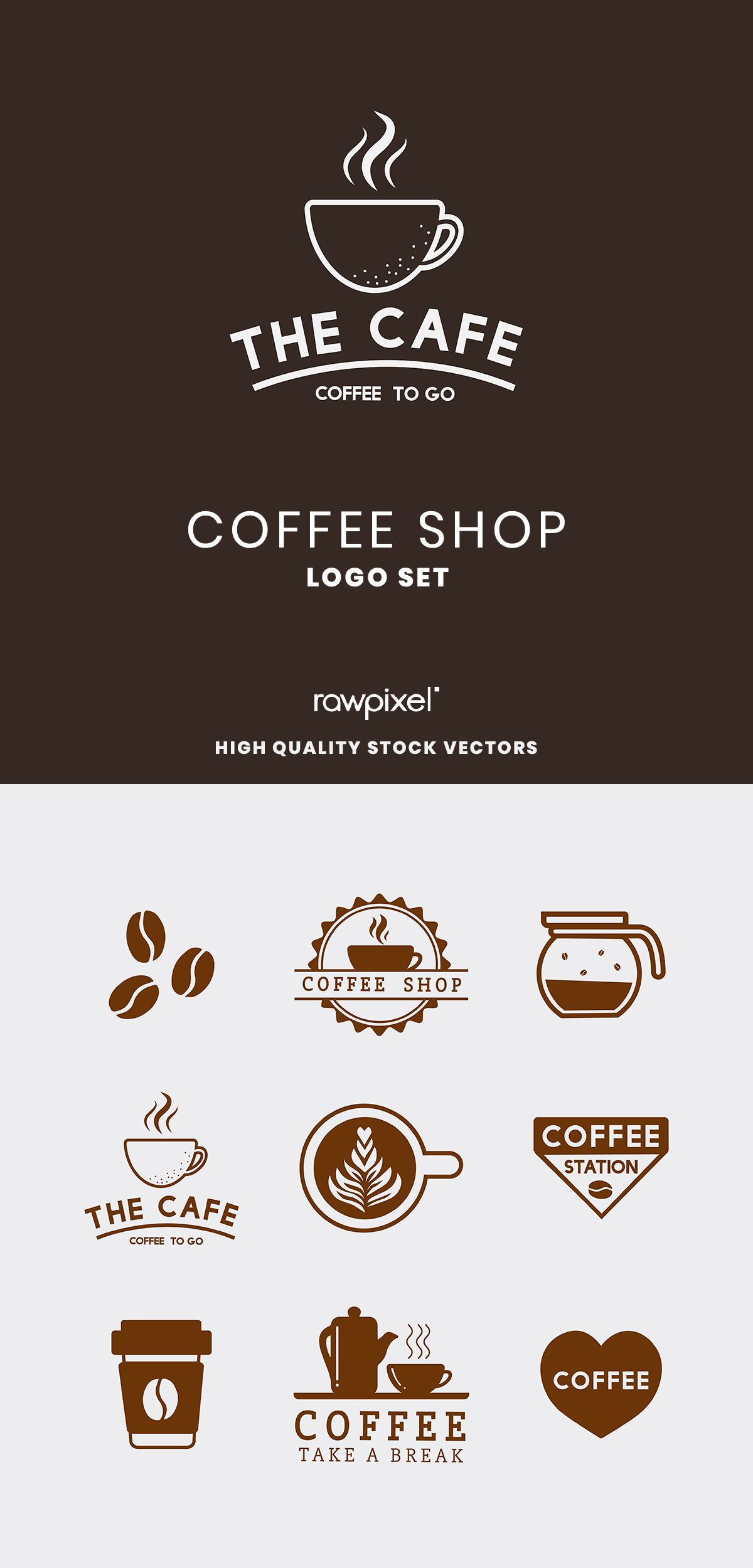 Download These Amazing Royalty Free Coffee Shop Logo Illustrations