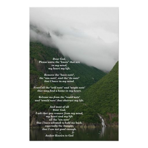 The Knots Prayer Large Poster