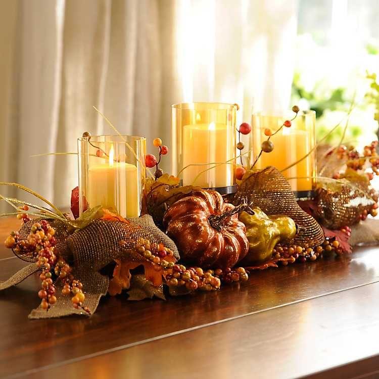 Metallic Pumpkin Centerpiece From Kirkland S Fall Thanksgiving Decor Harvest Decorations Autumn Dining