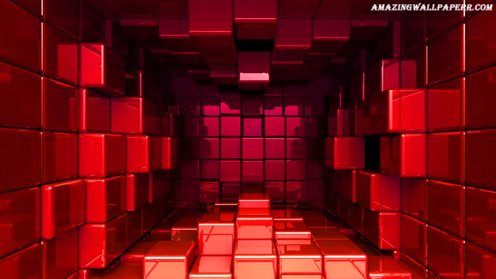 Red Block Wallpaper Widescreen Wallpaper Unusual Wallpaper 3d Wallpaper