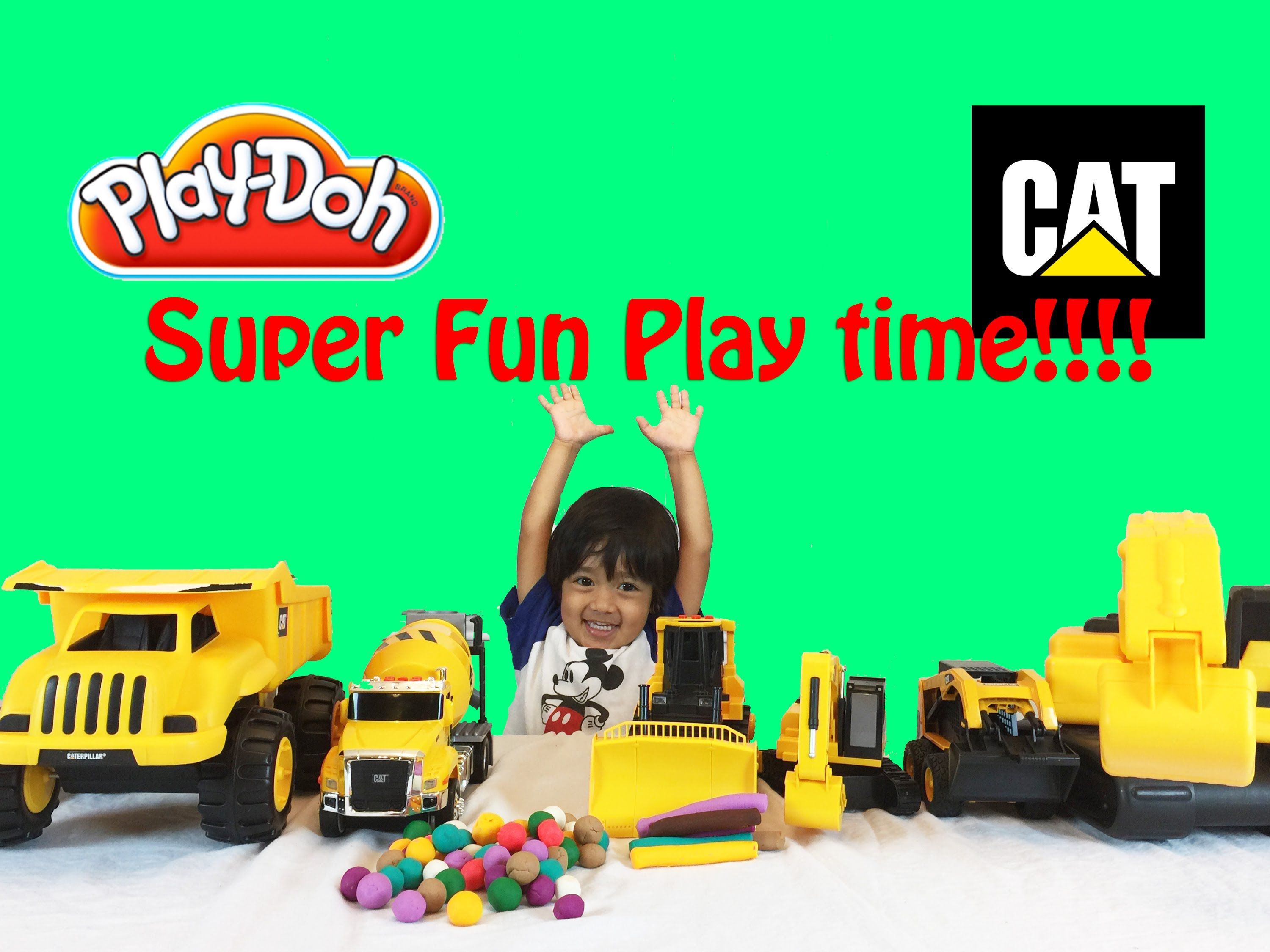Play Doh Construction Vehicles For Children Cat Toys With