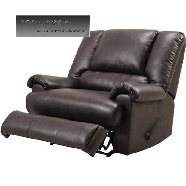 Brown Leather Big Man Recliner Lazy Chair Living Room Barcalounger