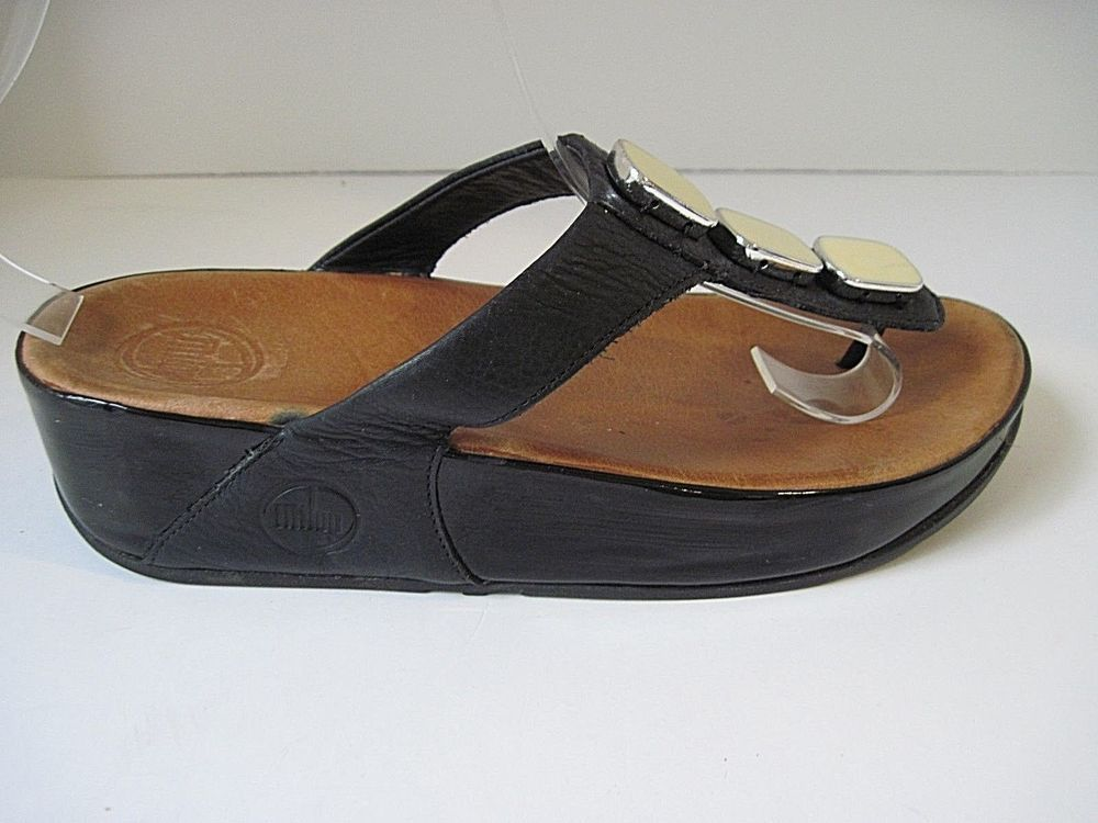bb0daf79c727 FitFlop Black Leather