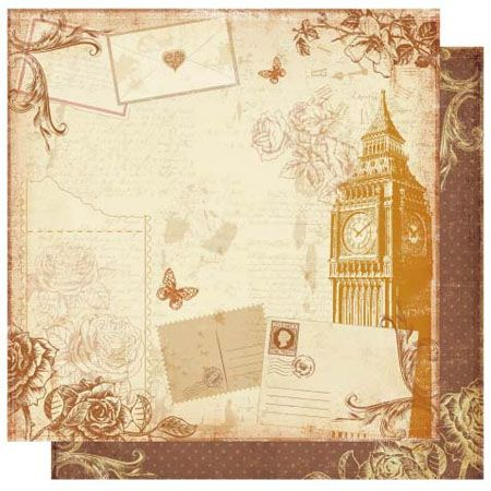 Оформление английских открыток