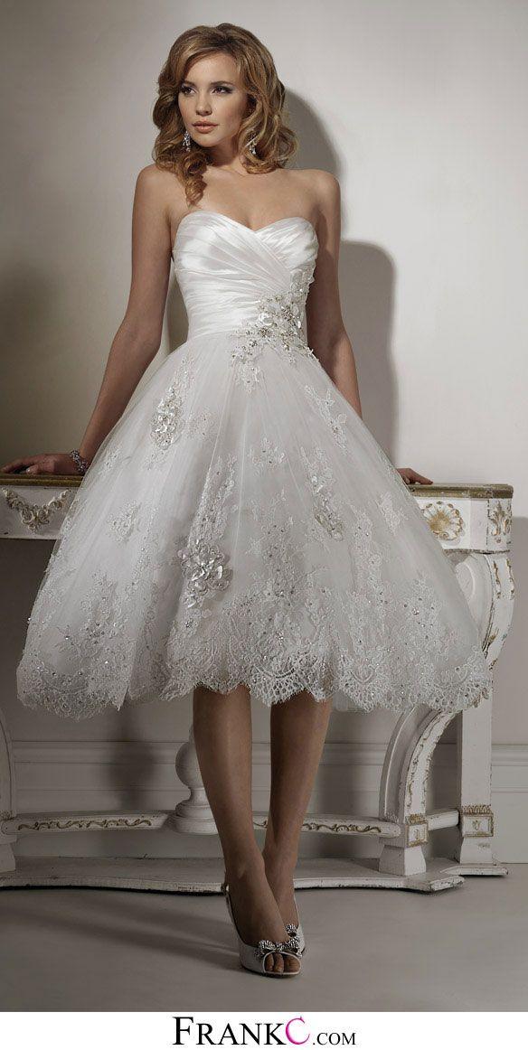 Lace Short Wedding Dress Wedding Dress Short Wedding Dress Beach Tea Length Wedding Dresses Lace Tea Length Wedding Dress