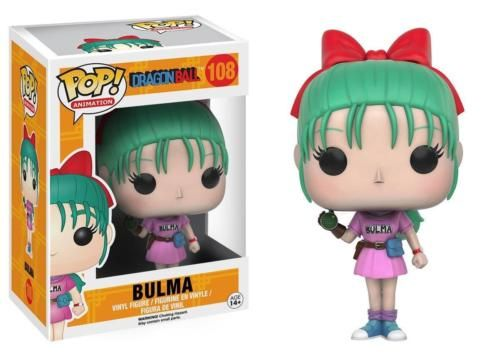 From the anime and manga series, Dragon Ball, this Dragon Ball Pop! Vinyl features Bulma in her iconic pink outfit and wearing her glove! This figure measures about 3 3/4 inches tall and comes packaged in a window display box. #funko #popvinyl #actionfigure #collectible #DragonBall #Bulma