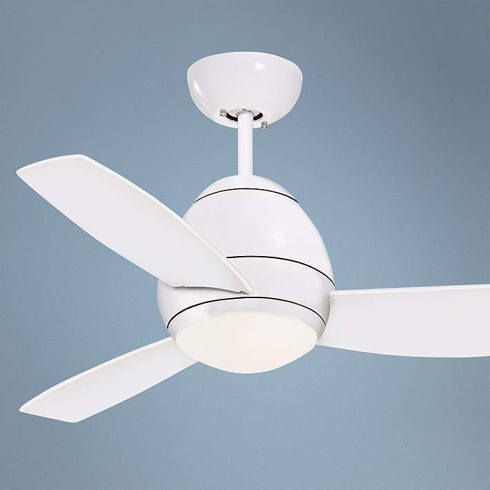 44 Emerson Curva White Ceiling Fan R2673 Lamps Plus